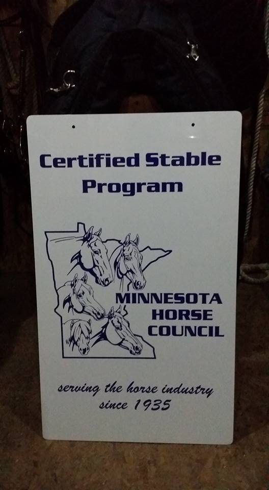 Mn Horse Council Certified Stable Kr Acres Hill City Mn